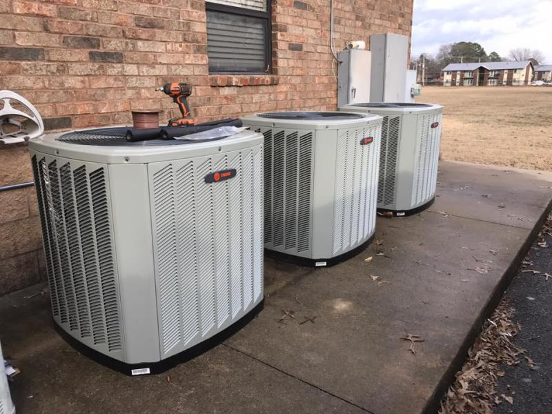 3 heating and air units